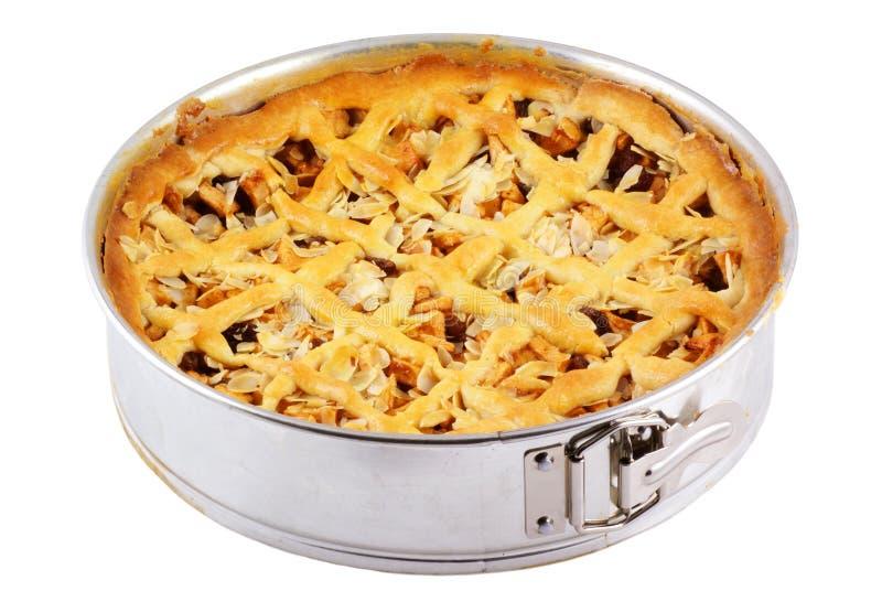 hemlagad pie för äpple arkivbilder