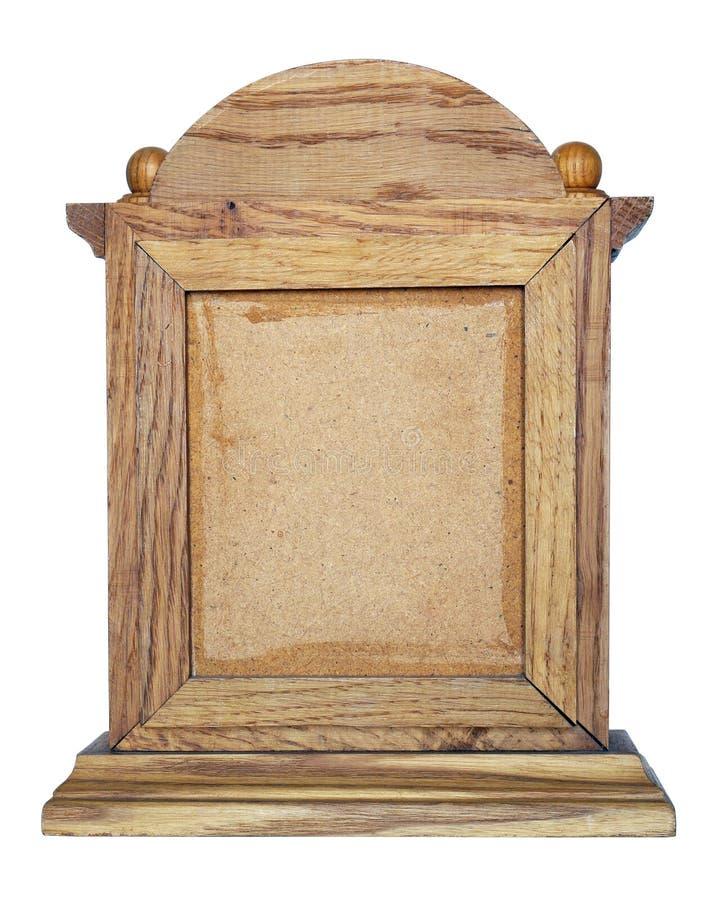 Hemlagad trälantlig ram för den kristna symbolen av Jesus och royaltyfri bild