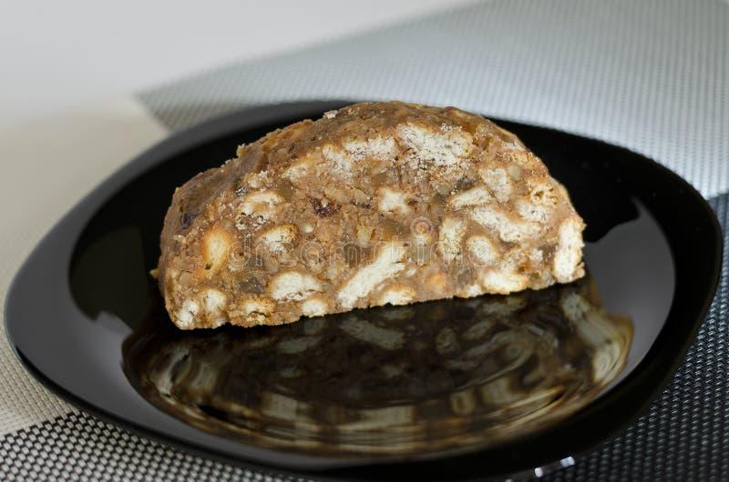 Hemlagad traditionell kakaefterrätt, royaltyfri foto