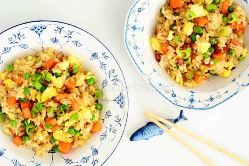 Hemlagade Fried Rice royaltyfria foton
