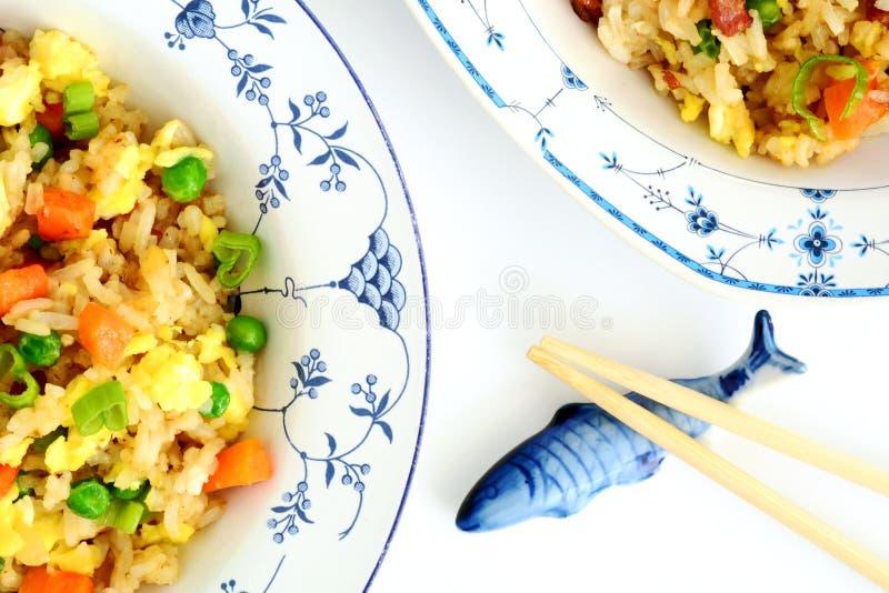 Hemlagade Fried Rice royaltyfri bild