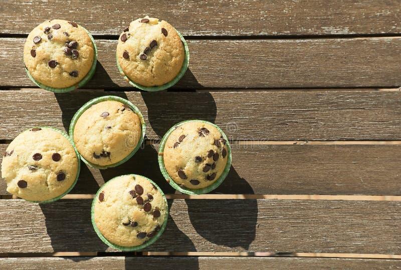 Hemlagade muffin med naturprodukter royaltyfri bild