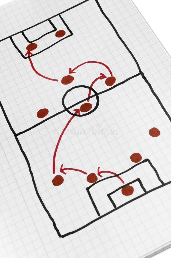 hemlig fotbolltaktik för plan stock illustrationer