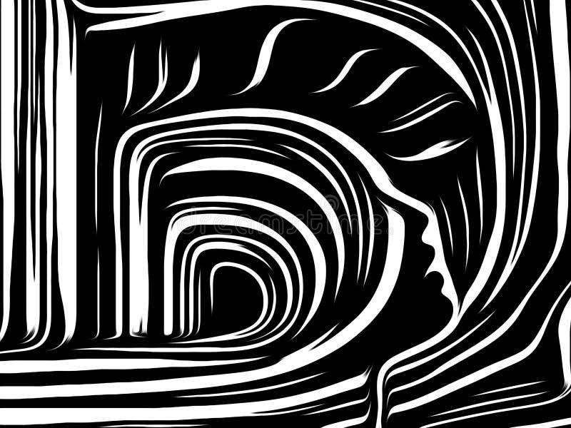Hemligheter av inre linjer stock illustrationer