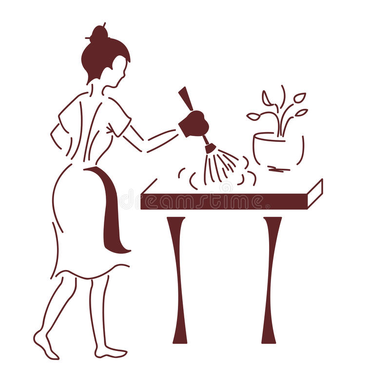 Hemmafrun royaltyfri illustrationer