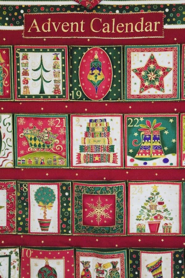 Hemmet gjorde jul Advent Calendar royaltyfri foto
