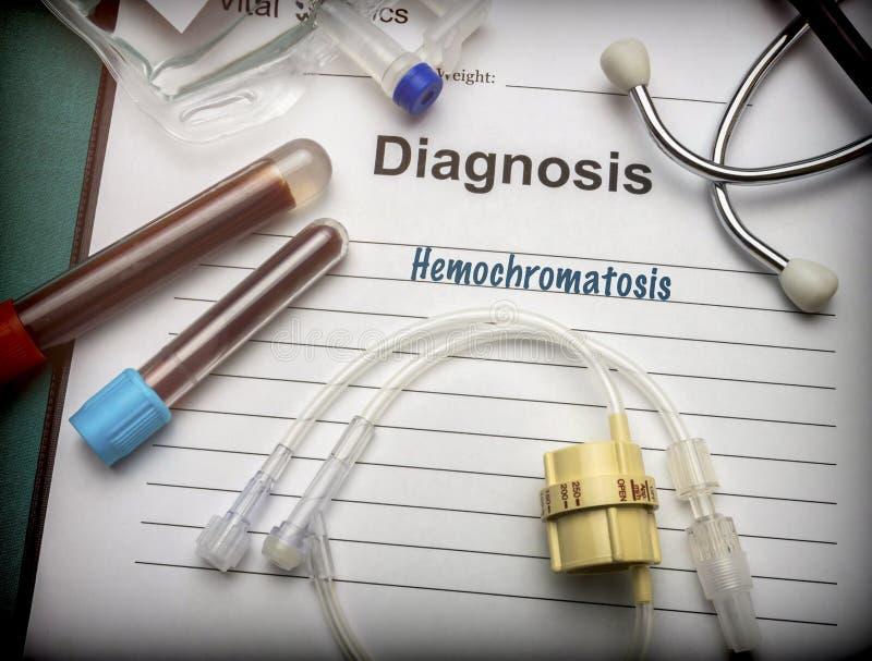 Hemocromatose do diagnóstico médico fotos de stock