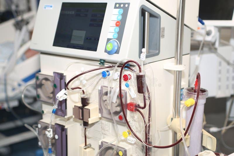 Hemodialisis - reemplazo de la función renal fotografía de archivo