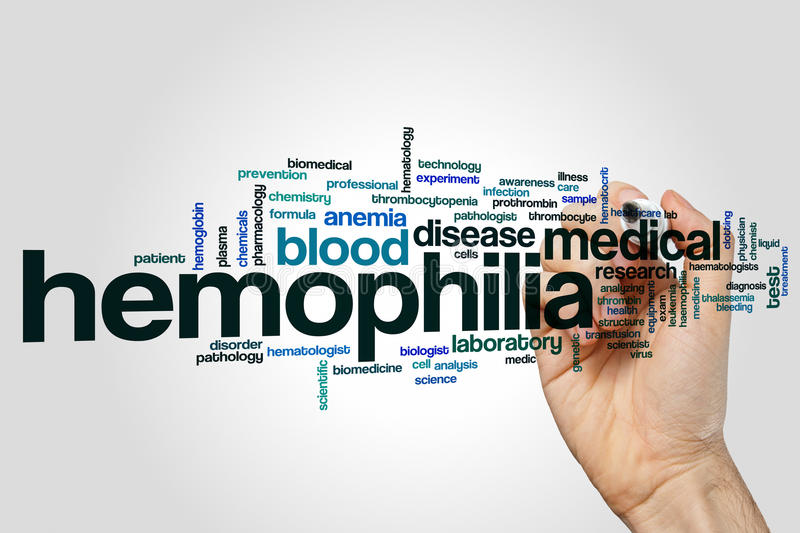 Hemophilia word cloud stock image