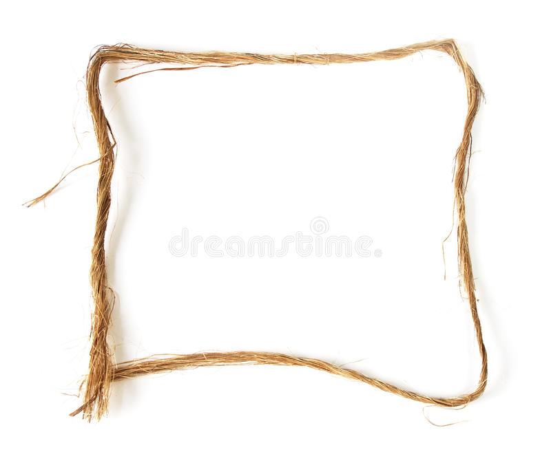 Hemp border royalty free stock photo