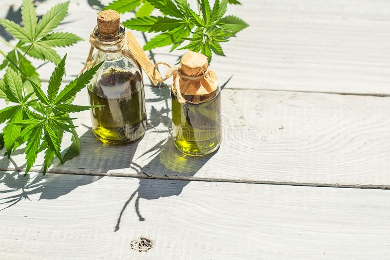 Products from hemp royalty free stock photography