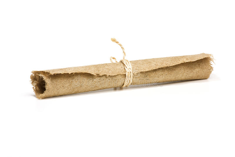 Hemp paper scroll stock photo. Image of macro, ages, middle - 14029488
