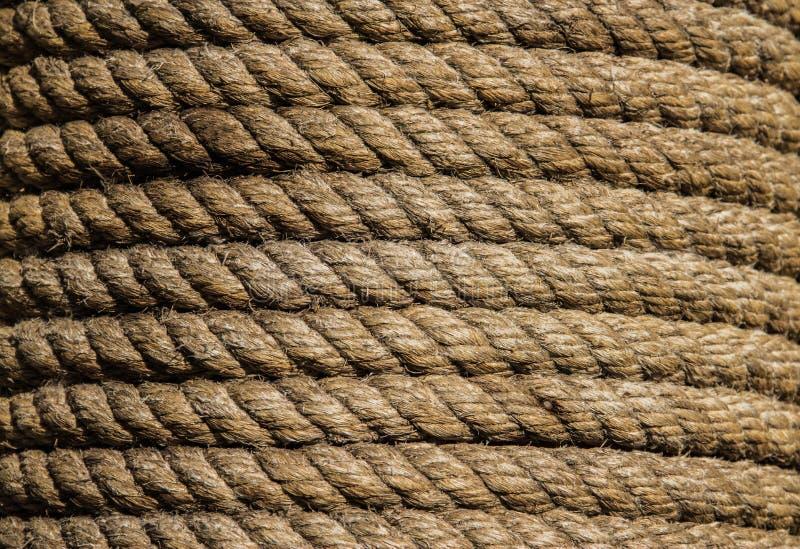 Hemp rope arkivfoton