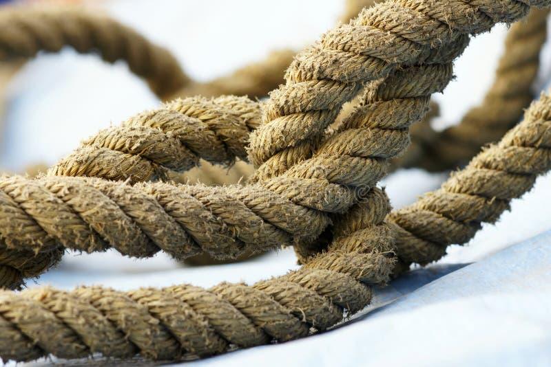 Hemp rope. The close-up of hemp rope royalty free stock photography