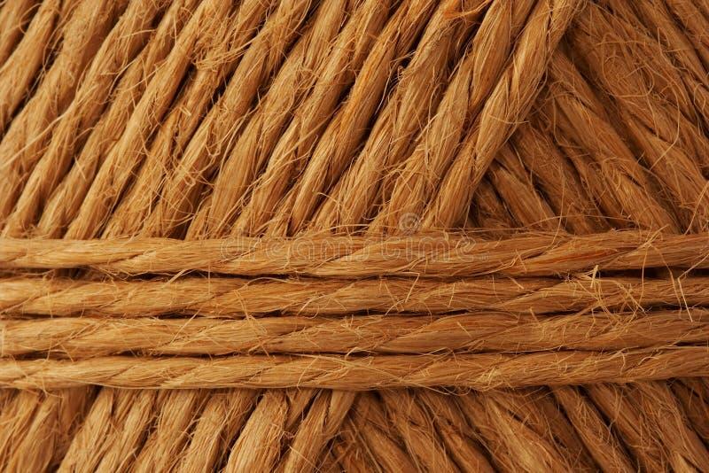 Hemp rope. Rope made from hemp stock photo