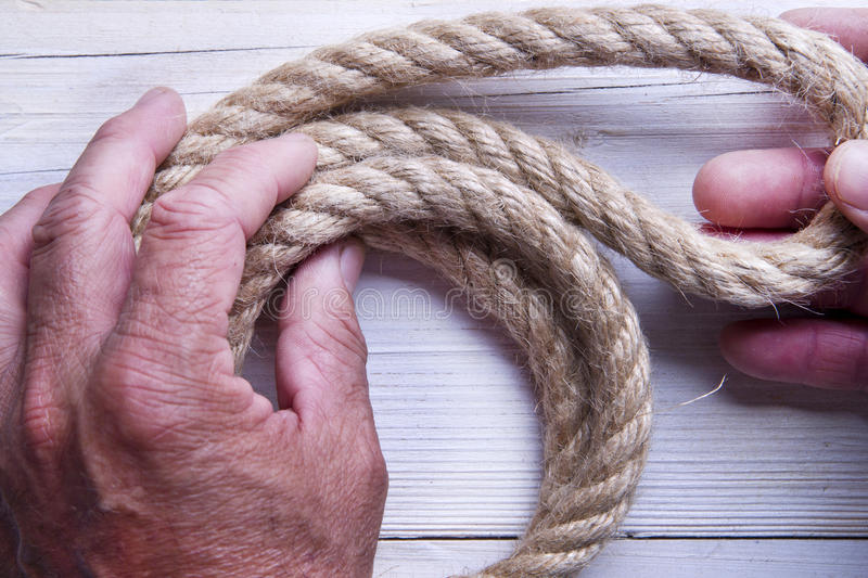 Download Hemp Rope stock photo. Image of line, wire, knot, fixed - 31362002