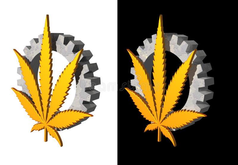 hempindustri royaltyfri illustrationer