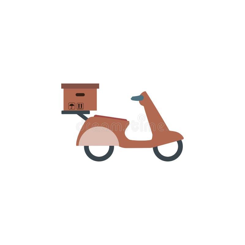 Hemsändning på sparkcykeln, motorcykel Snabb världsomspännande sändnings stock illustrationer
