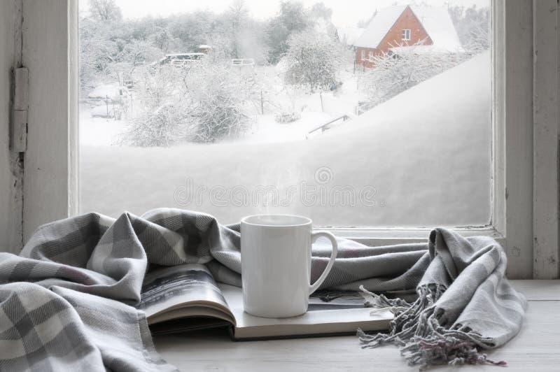 Hemtrevligt vinterstilleben royaltyfria bilder