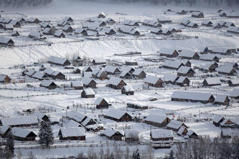 Hemu Village in winter stock image