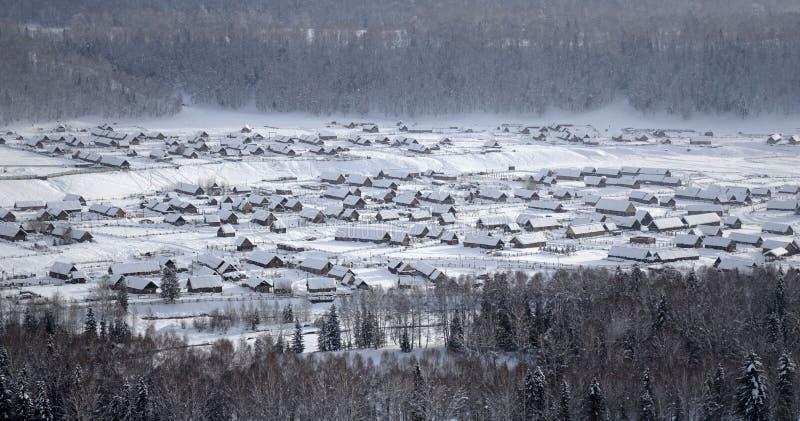 Hemu Village in winter stock photos