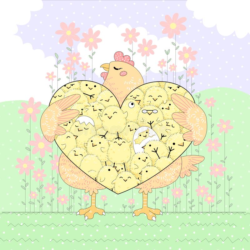 Free Hen And Chicks Maternal Love Royalty Free Stock Images - 212619049