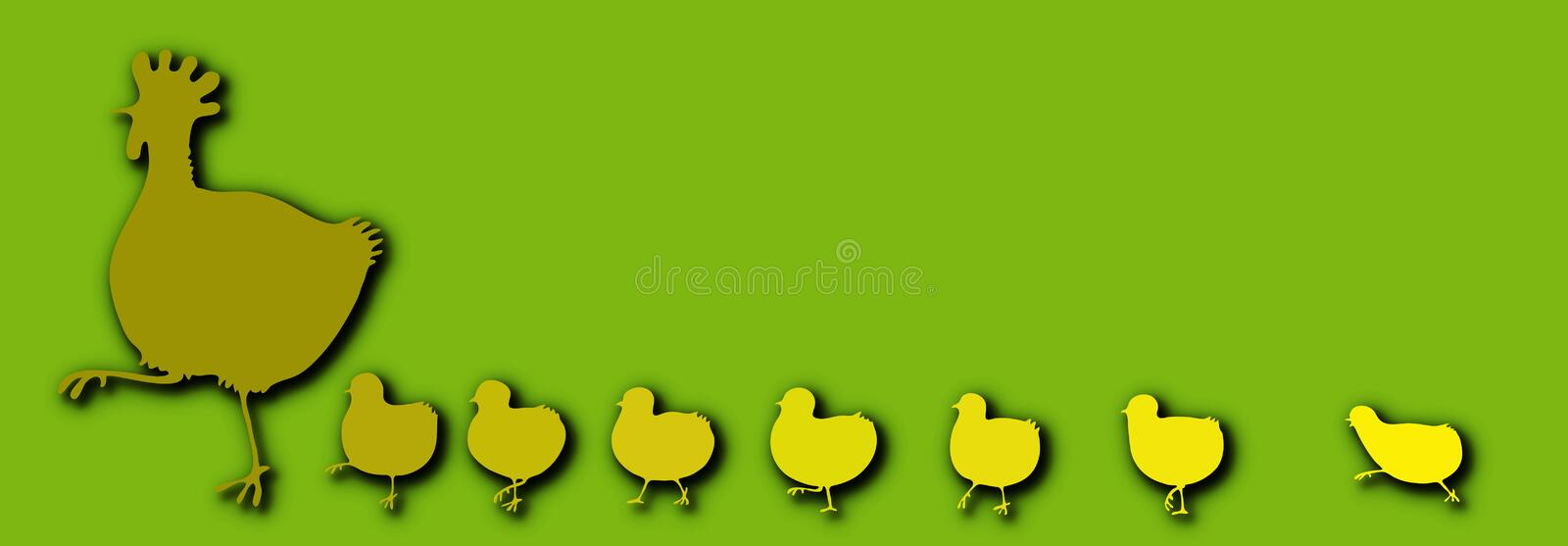 Download Hen with Chickens stock vector. Image of design, fowl - 3791739