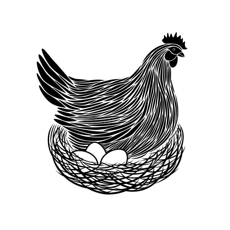 Hen On Nest libre illustration