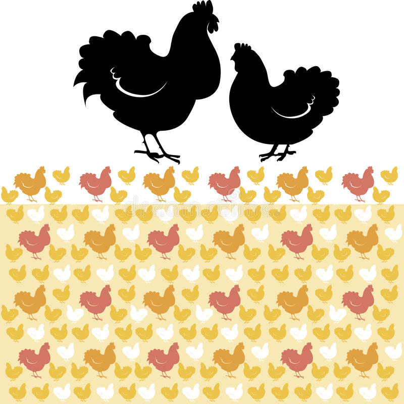 Hen And Rooster Royalty Free Stock Image