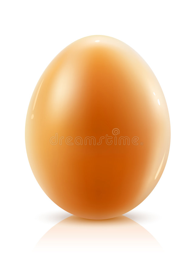 Download Hen's Egg Isolated On White Background Stock Illustration - Illustration: 8494035