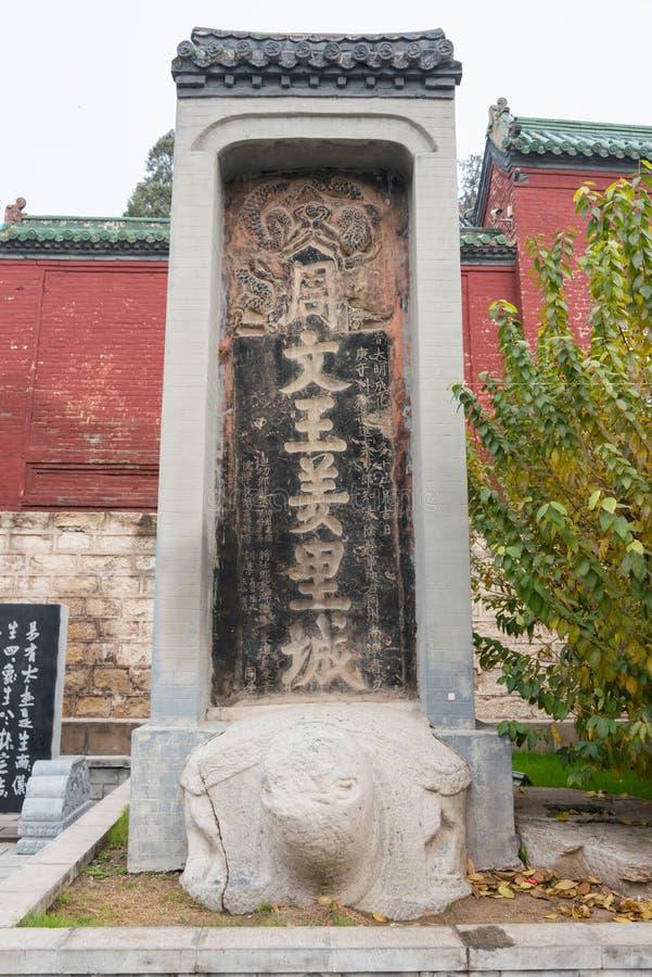 HENAN, CHINA - 28 DE NOVEMBRO DE 2014: Monumento em Youlicheng um famoso o seu fotos de stock royalty free