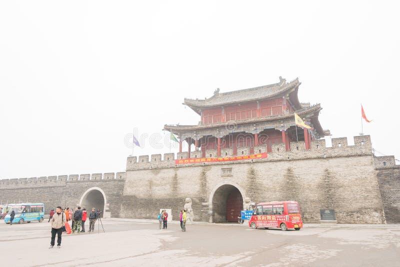 HENAN, CHINA - 17 Nov. 2015: Shangqiu Oude Stad een beroemde hist stock fotografie