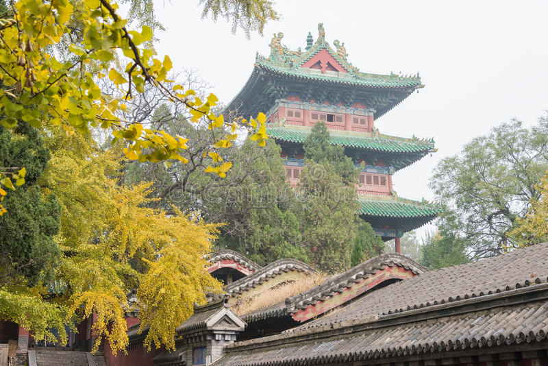 HENAN, CHINA - 9. November 2015: Shaolin Temple (Welterbestätte) stockbild
