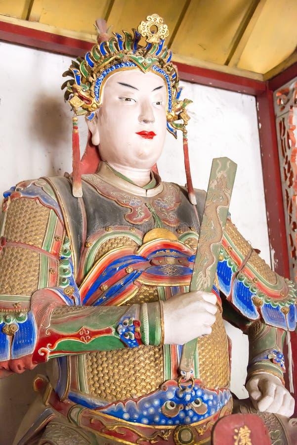 HENAN, CHINA - 30. Oktober 2015: Statue von Zhuge Shang bei Nanyang Mem stockfotografie