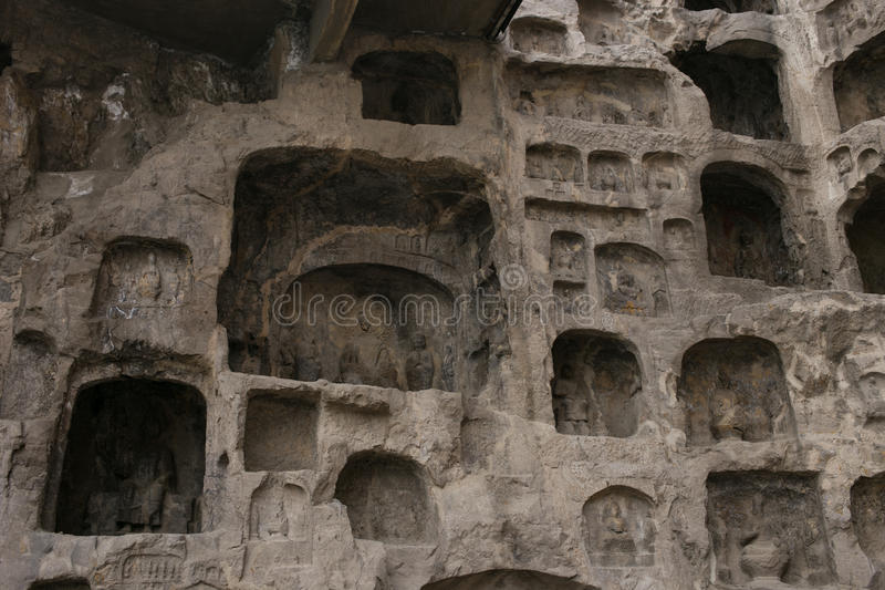 Henan, China`s famous tourist attraction, Longmen Grottoes, Luoyang. stock photo
