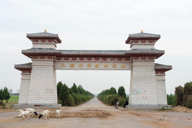 HENAN, CHINE - 28 octobre 2015 : Site de la ville Xu de capital initial image libre de droits