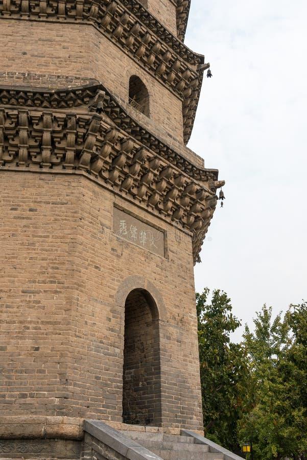 HENAN, CHINE - 29 octobre 2015 : Tour de Xuchang Wenfeng chez Xuchang PAG photographie stock