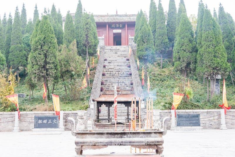 HENAN CHINY, Nov, - 17 2015: Ebo taras przy Shangqiu Anci (Ebotai) zdjęcia stock