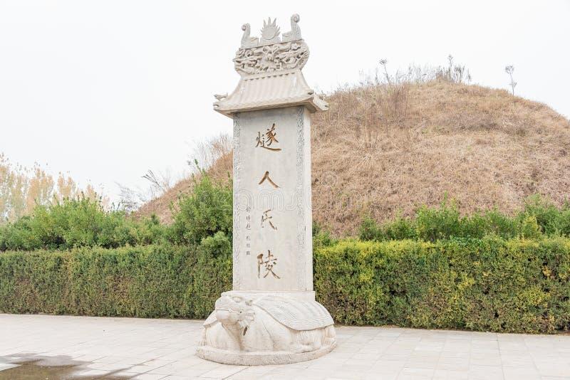 HENAN CHINY, Nov, - 17 2015: Suiren grobowiec przy Shangqi (Suihuangling) zdjęcia stock
