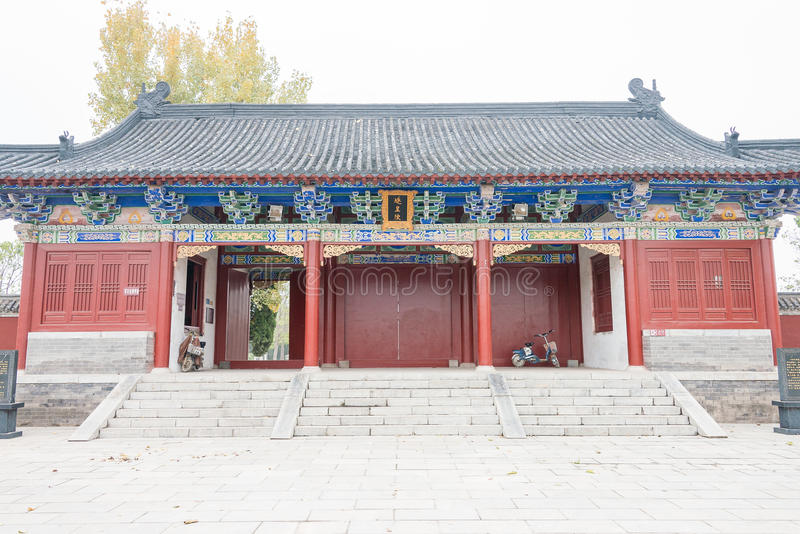 HENAN CHINY, Nov, - 17 2015: Suiren grobowiec przy Shangqi (Suihuangling) fotografia royalty free