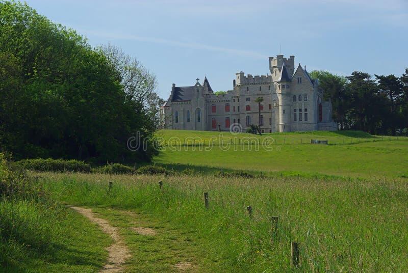 Hendaye Chateau D Abbadie stock fotografie