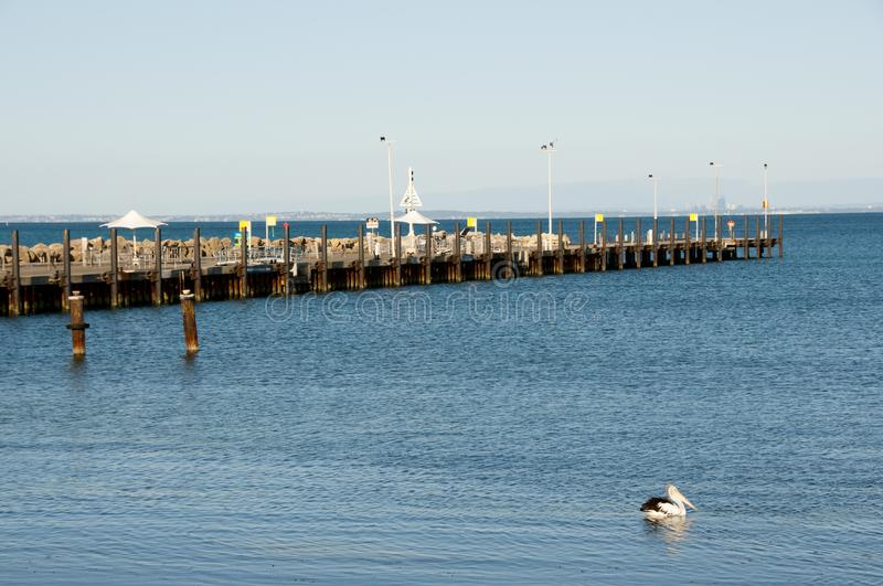 Henderson Ave Pier royalty free stock images