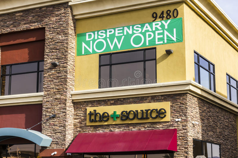 Henderson - Circa December 2016:The Source Las Vegas Medical Marijuana Dispensary. In 2017, Pot will be legal in Nevada II. The Source Las Vegas Medical royalty free stock photos