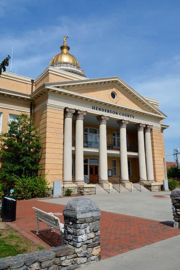 Henderson County Courthouse fotografía de archivo