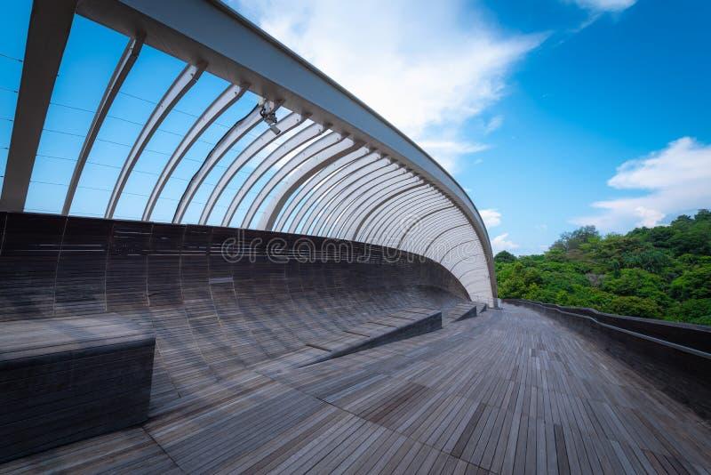 Henderson fala most na niebieskiego nieba tle przy dniem w Singa obraz stock