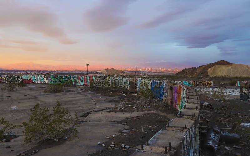 HENDERSON, NEVADA, UNITED STATES - Sep 15, 2018: Three Kids Mine; Henderson, Nevada. HENDERSON, NEVADA, UNITED STATES - Sep 15, 2018: The site of the Three Kids royalty free stock images