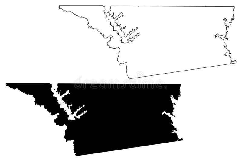 Henderson okręg administracyjny, Teksas okręgi administracyjni w Teksas, Stany Zjednoczone Ameryka, usa, U S , USA mapy wektorowa ilustracja wektor