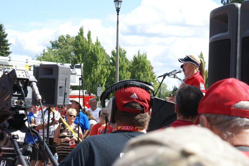 Henderson Sisters Hometown Speech stock foto
