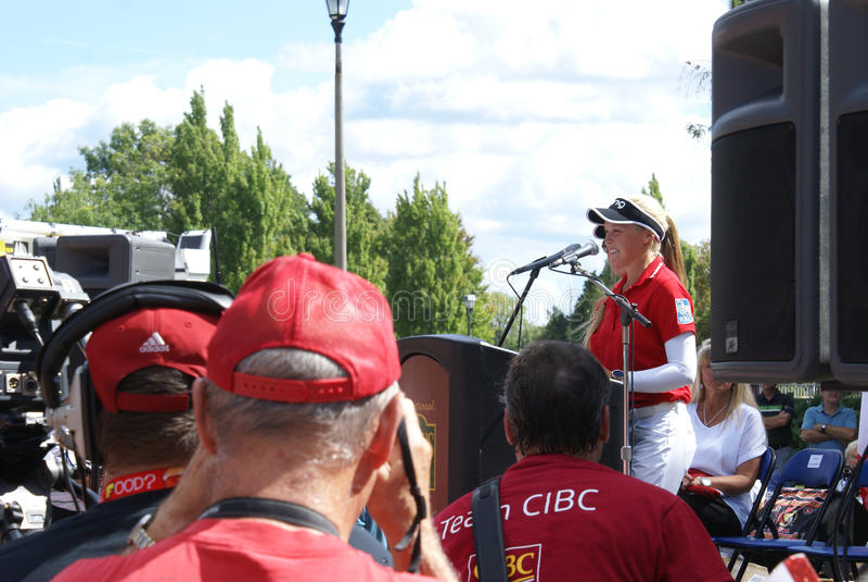 Henderson Sisters Hometown Speech stock afbeelding