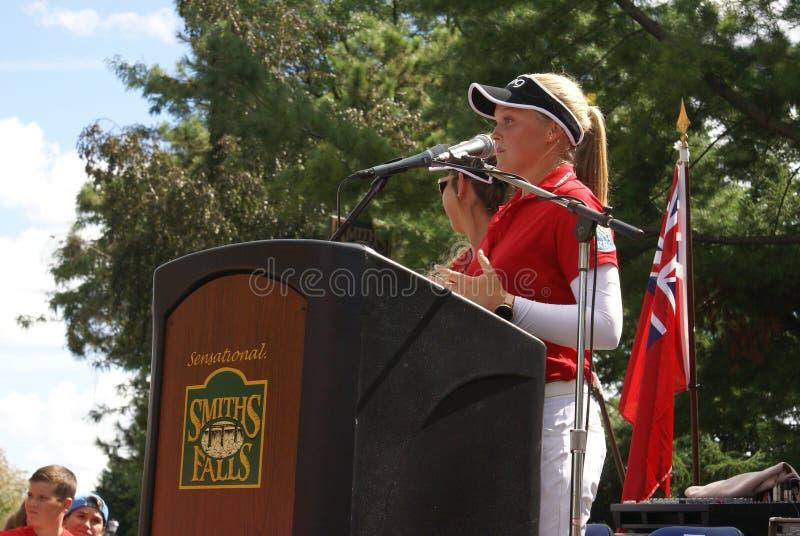 Henderson Sisters Hometown Speech royalty-vrije stock foto